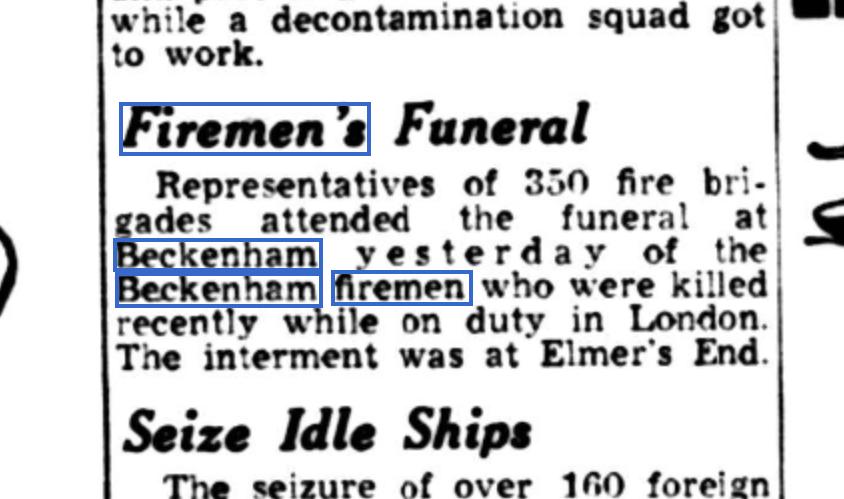 Firemen Newspaper 1A