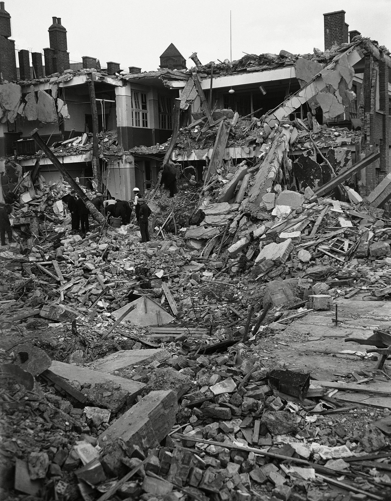 Ruins-South-Hallsville-School-Canning-Town-London-World-War-II